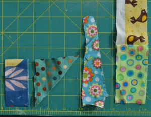 "1"" fabric pieces"