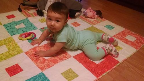 baby quilt for Julie